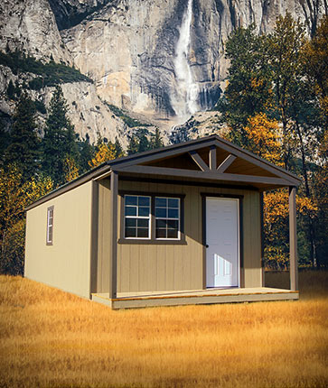 Classic Cabin Painted - Marten Portable Buildings