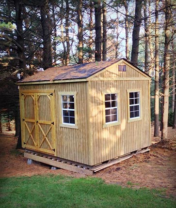 Custom Wooded - Marten Portable Buildings Illinois